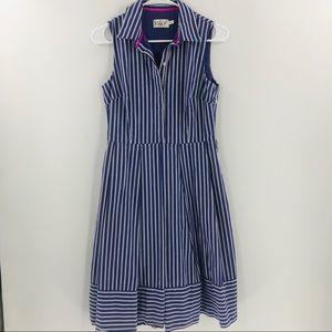Eliza J Purple White Green Pinstripe Dress Size 4